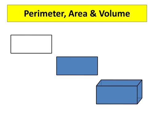 Image result for perimeter area volume