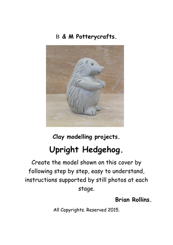Upright Hedgehog. Clay modelling.