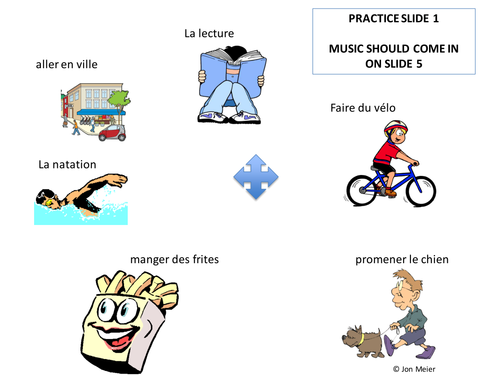 Keep Fit French: kinesthetic reading dance activity