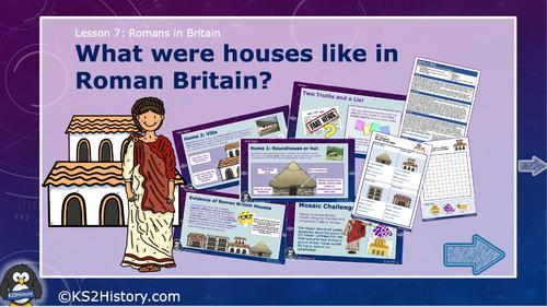 Roman Villas Vs Celtic Roundhouses Comparison Worksheet By