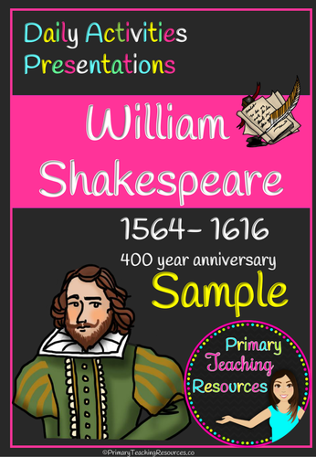 William Shakespeare sample activity pack