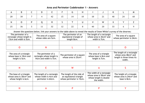 Area and perimeter codebreakers by alutwyche teaching resources area and perimeter codebreakers by alutwyche teaching resources tes ccuart Images