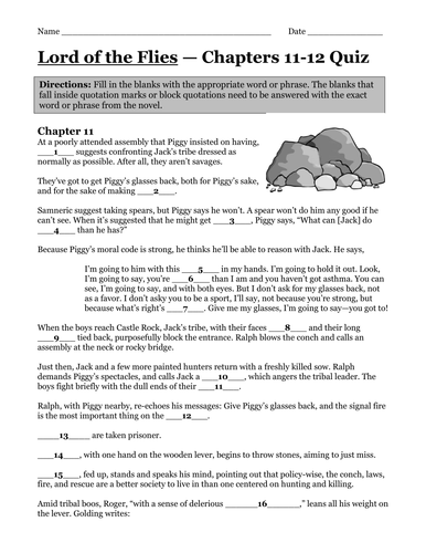 Lord of the flies study guide pdf