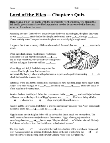 Worksheet Lord Of The Flies Vocabulary Worksheet english 9 ish tes shop teaching resources lord of the flies by william golding complete novel quizzes 7 quizzes