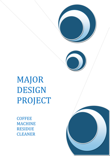 Design a coffee machine cleaner