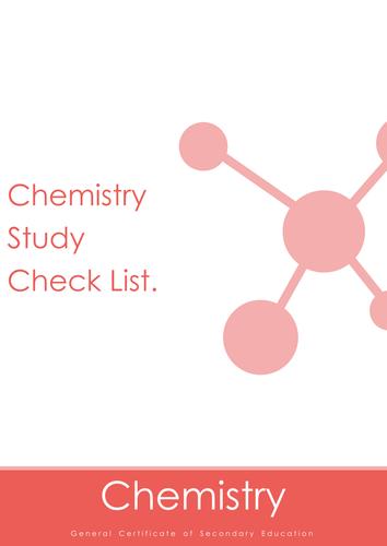 Nubila Education | GCSE Chemistry | Study Check List