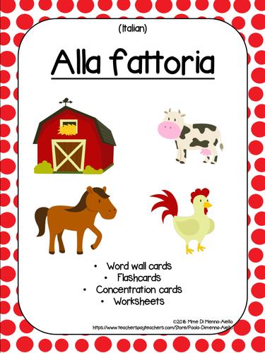 Alla Fattoria/At the farm (ITALIAN)