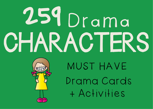 CHARACTER CARDS (259 Drama Characters + Suggested Activities)