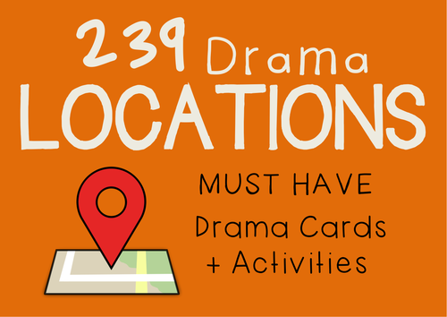 Scene Settings Drama Cards (239 Locations) + Suggested Activities