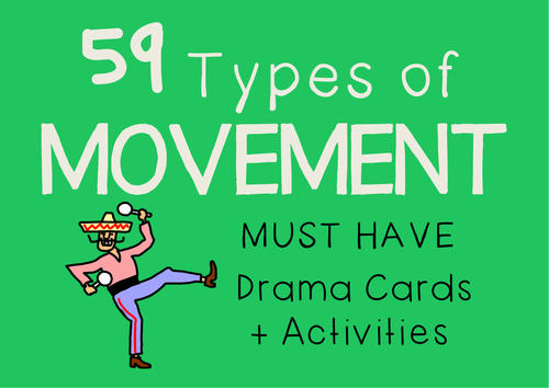 Character Movement Drama Cards + Suggested Activities