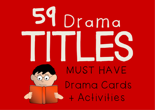 Story Titles Drama Cards + Suggested Drama Activities (59 Titles)