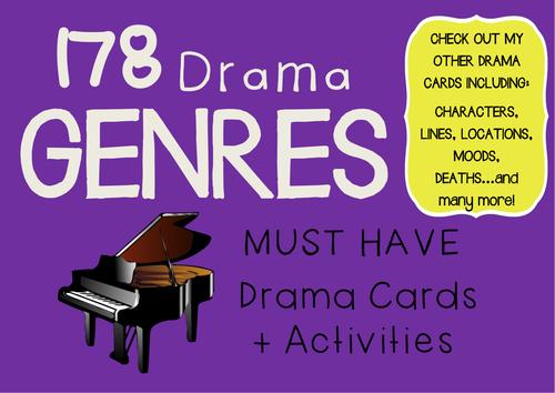 Drama Cards (FREE) 178 GENRES + Music Genres