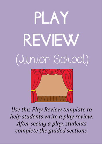 Theater Review Template (Junior)