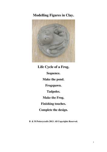 Life Cycle of a Frog. Clay modelling.