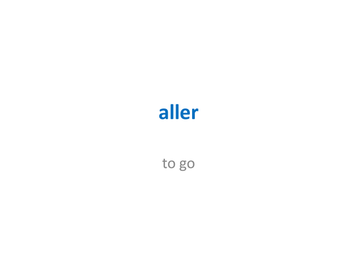 'aller' in French