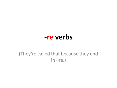 French -re verbs - an introduction