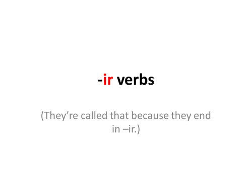 French -ir verbs - an introduction