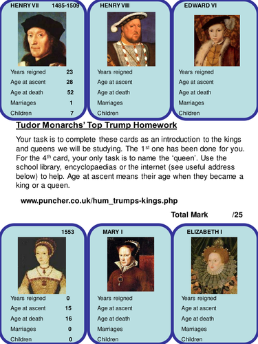 Tudor times homework help