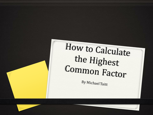 Calculating Highest Common Factor