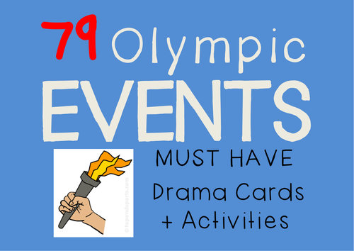 OLYMPICS : Drama Cards + Suggested Olympic Themed Activities