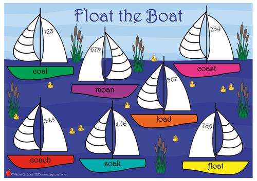 oa Phonics Game 'Float the Boat'