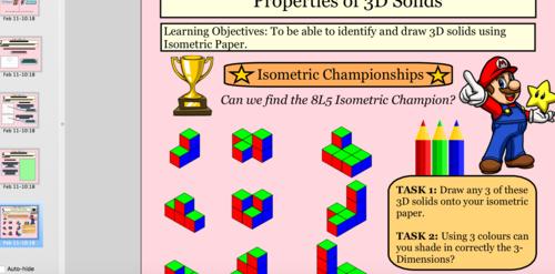 3D Solids Complete Lessons
