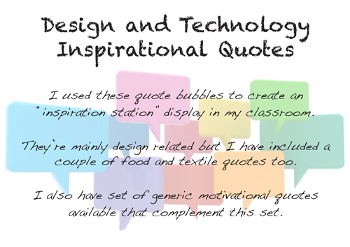Classroom Design Quotes ~ Motivational inspiration quotes design and technology