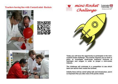 Custard rockets: Indoor rockets utilising plastic pipettes (travel about 8 m)