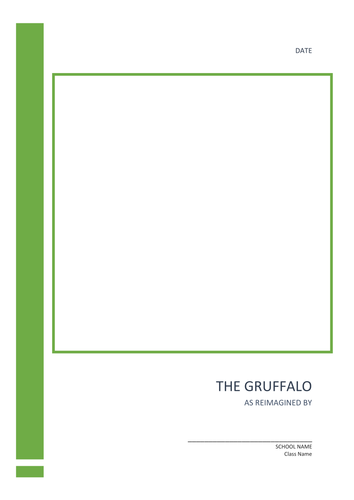 Editable guided writing template for The Gruffalo