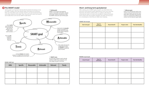 Study Skills Goal Setting Worksheet