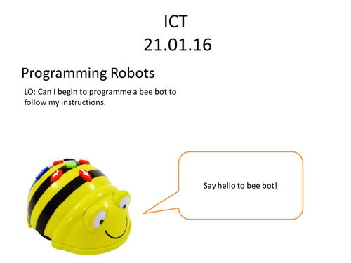 Bee Bot Lesson Scheme for Year 1 - 3 Lessons and Lesson Scheme document