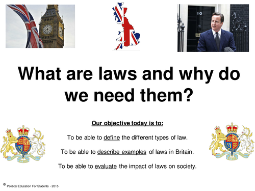 why do we need laws By rileygridzak1 on october 30, 2015 - 6:27pm why do we obey the law each and every day, one will notice citizens abiding to basic laws in every aspect of life.
