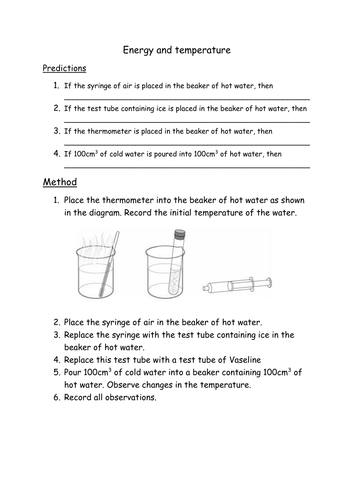 Energy and Temperature - NEW KS3
