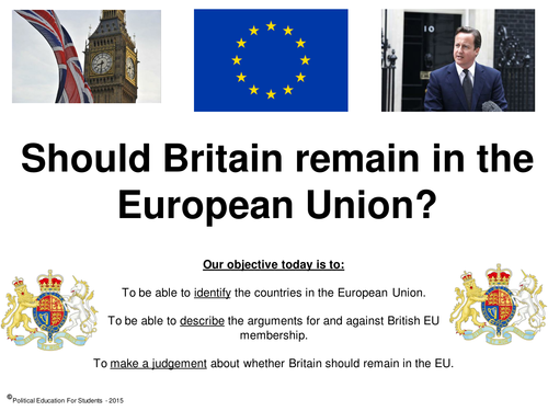 "a discussion on britain leaving the european union European union why did britain join the eu advocates of britain leaving the eu parade two from membership in the european union"", cepr discussion paper."
