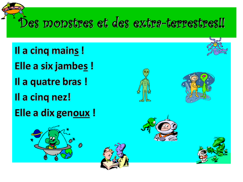 French Teaching Resources. Plurals: PowerPoint & Matching Cards.