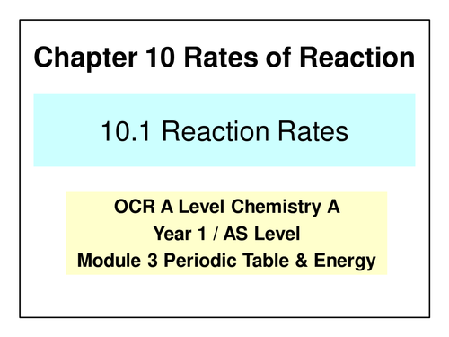New ocr a level chemistry reaction rates and equilibrium by new ocr a level chemistry reaction rates and equilibrium by henrikhanson teaching resources tes urtaz Images