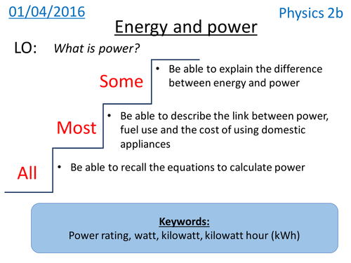 Energy and Power - NEW KS3