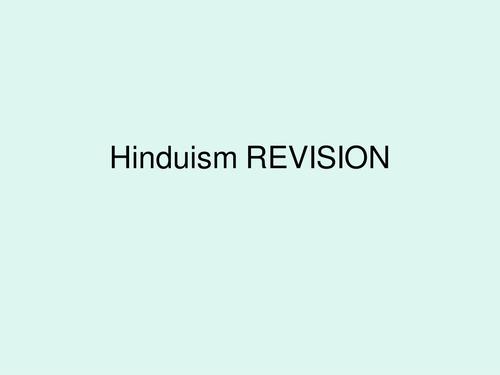 interactive revision:HINDUISM