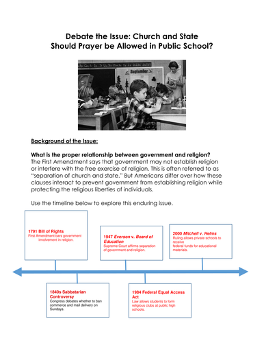 prayer should be allowed in public schools essay Prayer in the public school system phi 200 instructor march 21, 2011 the question of whether prayer should be allowed in the public school system is a.