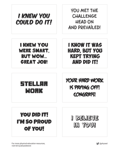★ Student Encouragement Cards - Part 1 | PDF Printables ★