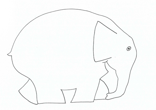 Elmer template by suemaas teaching resources tes for Elephant template for preschool