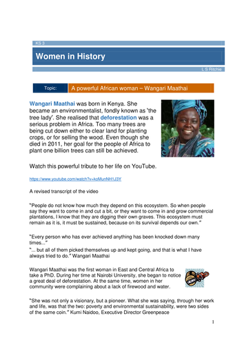 Wangari Maathai - Women in History