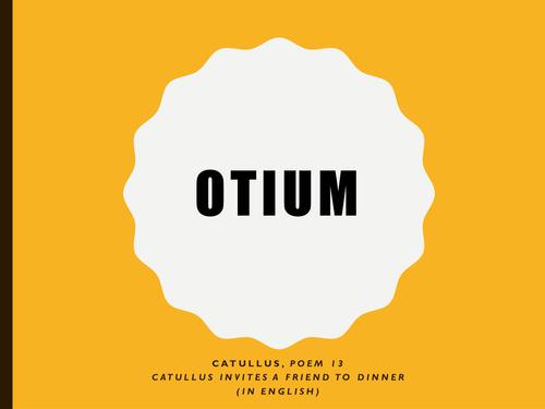 WJCE GCSE LATIN: CATULLUS INVITES A FRIEND FOR DINNER