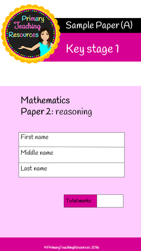 KS1 SATs Maths Reasoning papers (Questions and answers included).