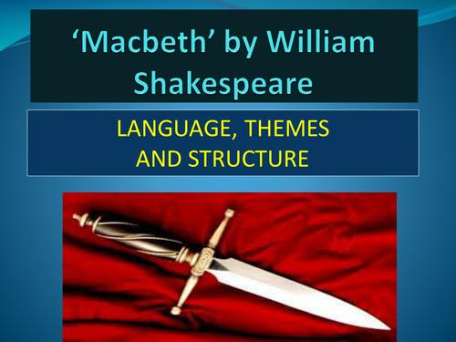 'MACBETH' Eduqas iGCSE Literature, Component 1, Section A