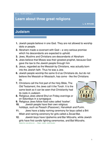Judaism, Islam, Christianity