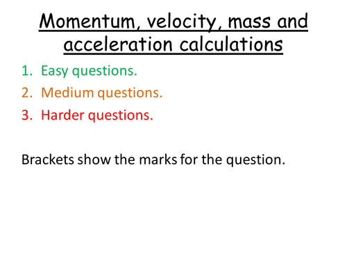 Differentiated Momentum KE GPE Force Mass and Acceleration – Force Mass X Acceleration Worksheet
