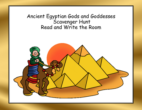 Ancient Egyptian Gods and Goddesses Scavenger Hunt- Read and Write The Room