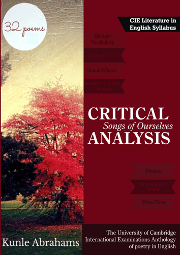CRITICAL ANALYSIS TO 32 SONGS  OF OURSELVES CIE - /AS POEMS.