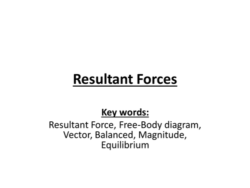 Resultant Forces - NEW AQA Physics